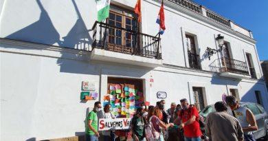 Acto de protesta contra el nuevo proyecto urbanístico de Valdevaqueros