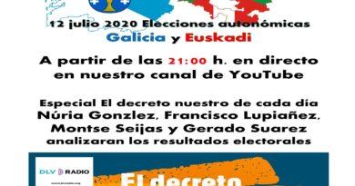 Especial elecciones vasca y gallegas en directo 21.00 h.