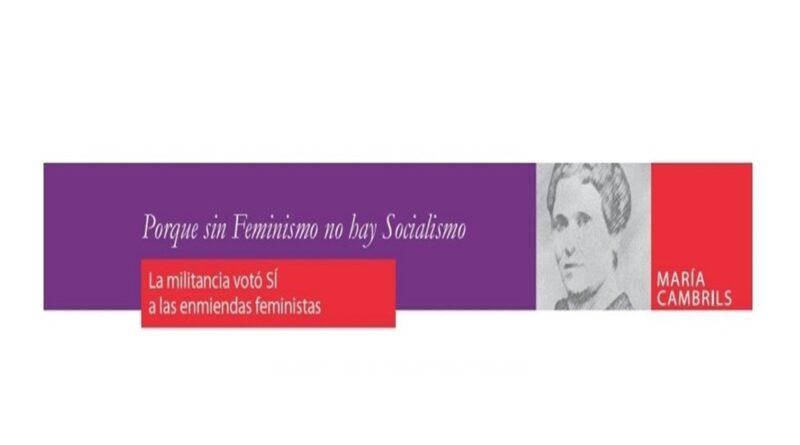Censura para las feministas en el Congreso federal del PSOE