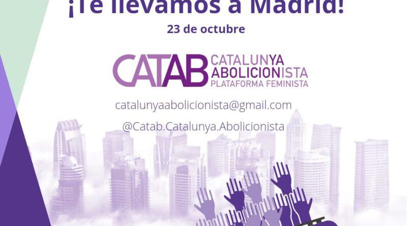 Manifestación el 23 de Octubre a las 12:00 h en Madrid